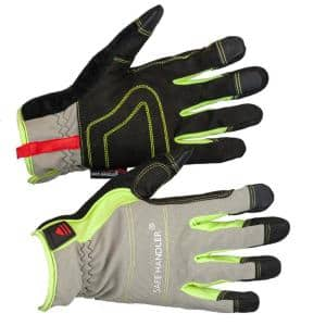 L/XL Polyurethane, High Visibility Tech Gloves, Touch Screen Compatible Fitted Wrists (2-Pairs)