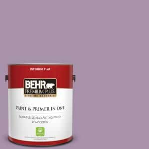 Behr Premium Plus 1 Gal 670d 5 Garden Flower Flat Low Odor Interior Paint And Primer In One 140001 The Home Depot