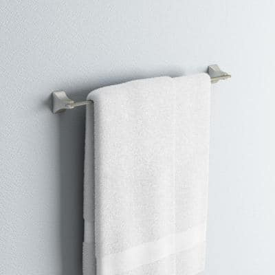 Shangri-La 18 in. Towel Bar in Satin Nickel