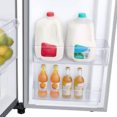 23 cu. ft. Smart Side-by-Side Refrigerator in Fingerprint Resistant Stainless Steel, Counter Depth