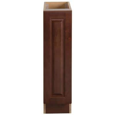 Benton Assembled 9x34.5x24 in. Base Cabinet with Full Height Door in Amber