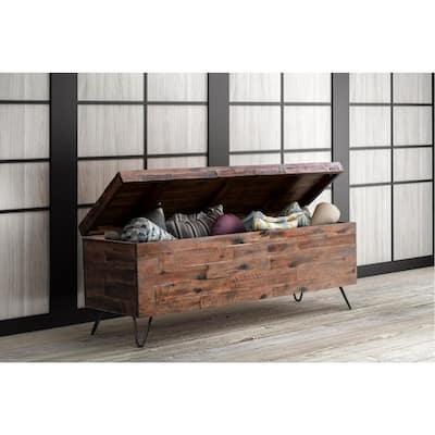 Rapone Brown Storage Bench