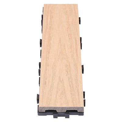 UltraShield Naturale 3 in. x 1 ft. Quick Composite Single Slat Deck Tile in Canadian Maple (4-Pieces per Box)