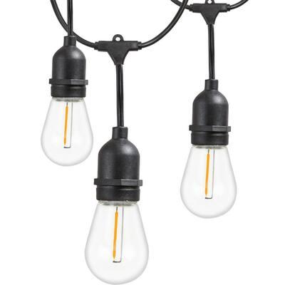 Outdoor 48 ft. Plug-in Edison Bulb LED Smart App-Enabled String Light, E26,30W, 2700K