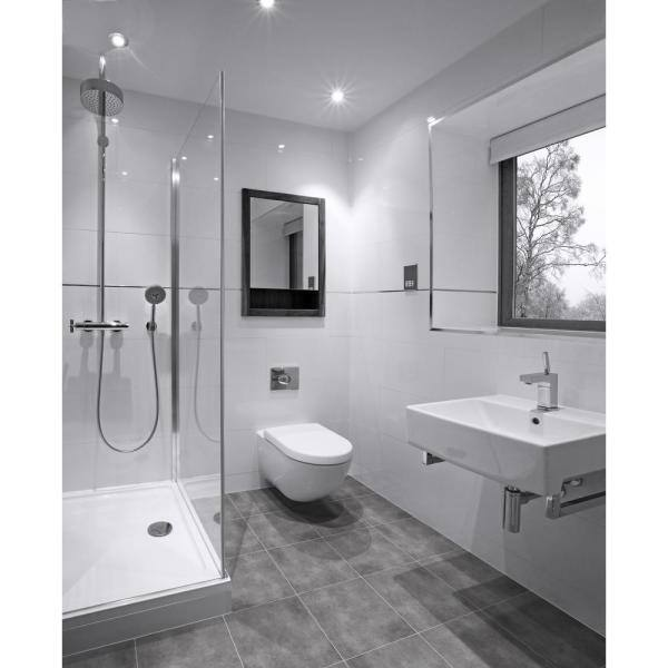 Matte Ceramic Floor And Wall Tile, Home Depot Bathroom Floor Tiles