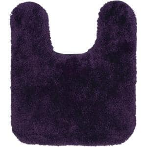 Royal Purple 21 in. x 24 in. Nylon Machine Washable Bath Mat