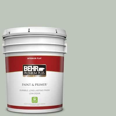 5 gal. #N410-3 Riverdale Flat Low Odor Interior Paint & Primer
