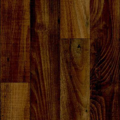 Smokehouse Oak Gunstock Wood Residential Vinyl Sheet Flooring 13.2ft. Wide x Cut to Length