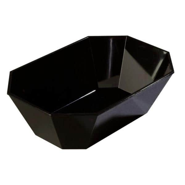 Carlisle 5 Octagonal Deli Serving Crock In Black Case Of 6 671303 The Home Depot