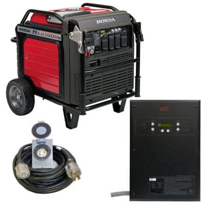 Inverter 7,000-Watt Standby Gasoline Generator 120/240V Single Phase with Bluetooth and 10 Circuit Auto Transfer Switch