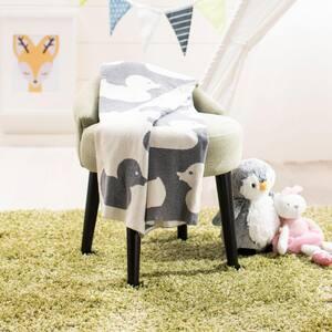 Duckie Grey/Ivory Throw Blanket