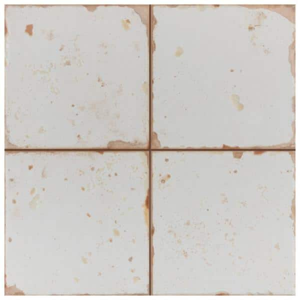 Merola Tile Artisan Blanco 13 In X 13 In Ceramic Floor And Wall Tile 12 2 Sq Ft Case Fpeartb The Home Depot