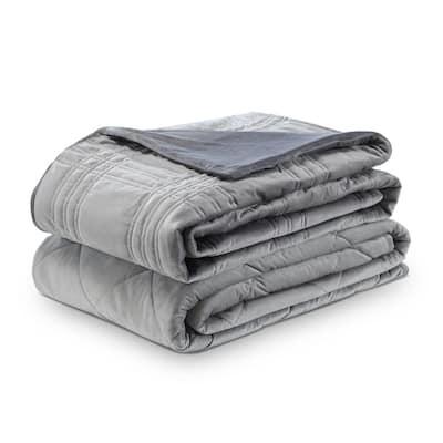 Ekon Grey 72 in. x 80 in. 20 lb. Weighted Blanket
