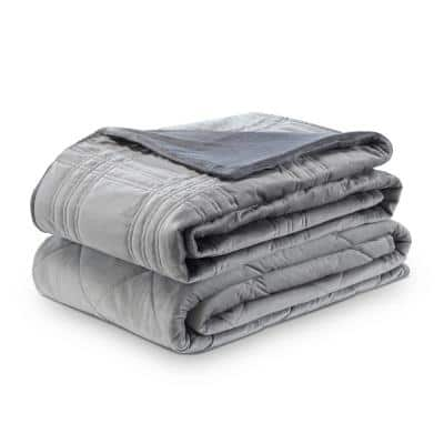 Ekon Grey 60 in. x 80 in. 20 lb. Weighted Blanket