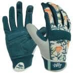 Women's Large Fabric Gardener Touchscreen Gloves