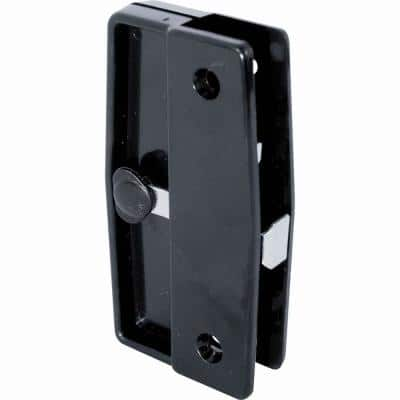 Black Plastic Mortise Style Screen Door Latch and Pull, Academy and Better Bilt