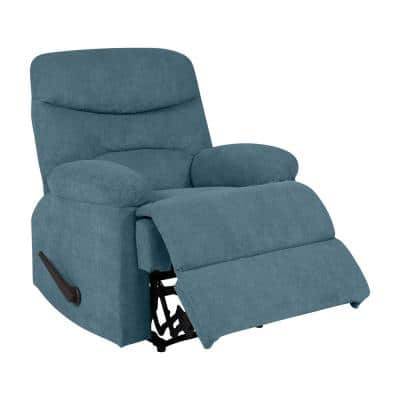 35 in. Width Big and Tall Caribbean Blue Polyester Wall Hugger Recliner