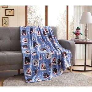 Christmas Snow Globe Gnome 50 x 60 inches Throw Blanket