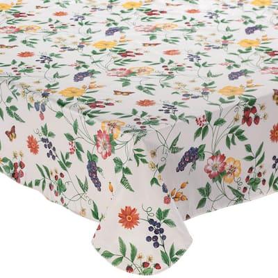 Enchanted Garden 52 in. x 70 in. 100% Vinyl T Tablecloth
