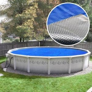 Special Deluxe 5-Year 15 ft. Round Blue/Silver Solar Above Ground Pool Cover