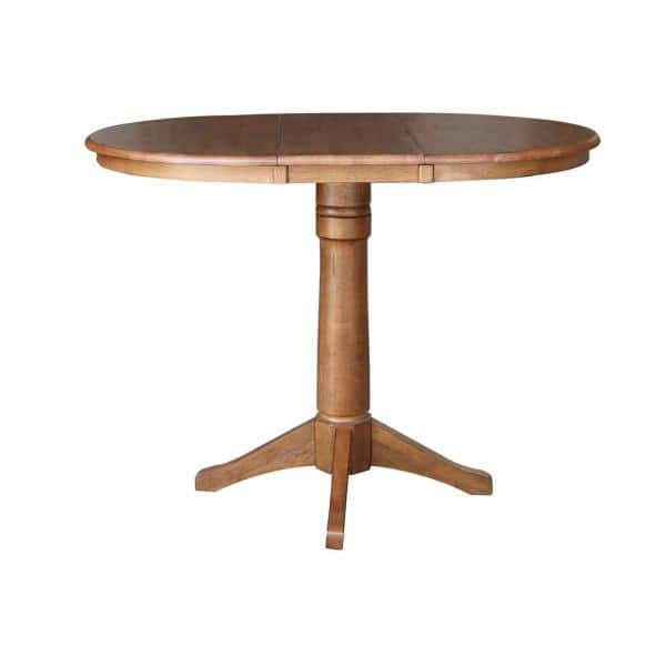 Oval Solid Wood Gathering Table, Round Gathering Table
