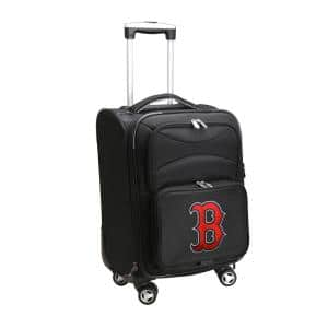 MLB Boston Red Sox Black 21 in. Carry-On Spinner Softside Suitcase