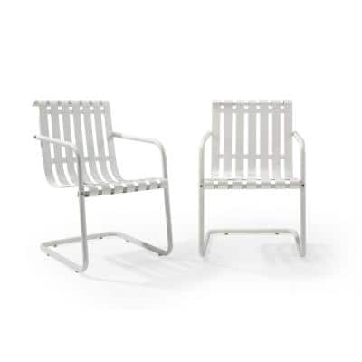 Gracie White Metal Outdoor Chair (Set of 2)