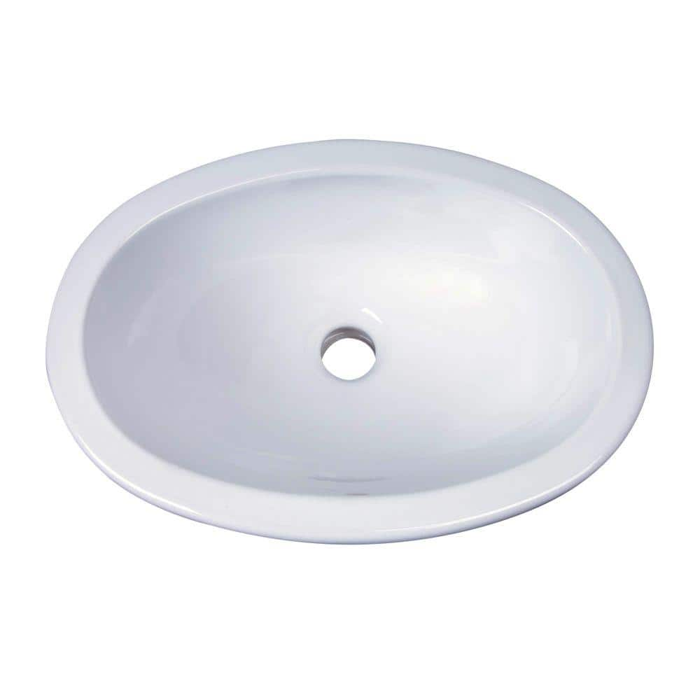 Barclay Products Lily Drop In Bathroom Sink White 4 525wh The Home Depot
