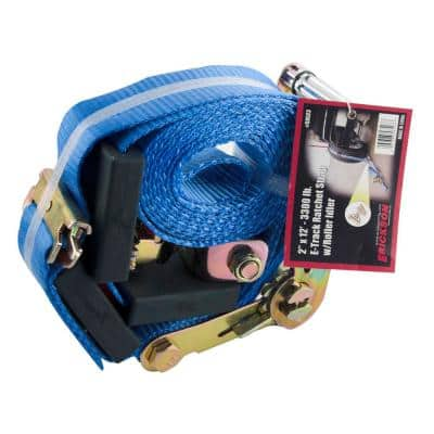 12 ft. x 2 in. Adjustable Tire Strap with E-Track Roller Idler Fitting