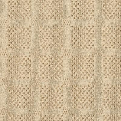 Desert Springs Dusty Yellow 5 ft. x 7 ft. Custom Area Rug with Pad