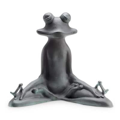 Contented Yoga Frog Garden Statue