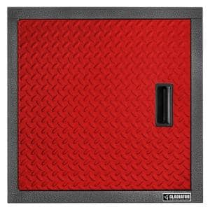 Premier Series Pre-Assembled 24 in. H x 24 in. W x 12 in. D Steel Garage Wall Cabinet in Red Tread