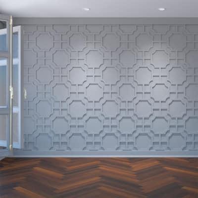 "3/8"" x 26-7/8"" x 15-3/8"" Bradley Decorative Fretwork Wall Panels in Architectural Grade PVC"