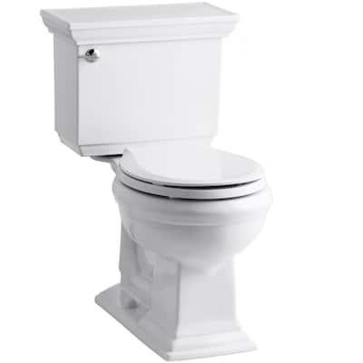 Memoirs Stately 2-Piece 1.28 GPF Single Flush Round Toilet with AquaPiston Flushing Technology in White