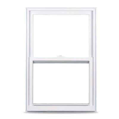35.375 in. x 59.25 in. 50 Series Single Hung Fin LS Vinyl Window - White