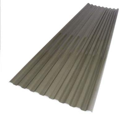 26 in. x 8 ft. Solar Gray Polycarbonate Corrugated Roof Panel
