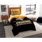 Penguins Draft 2-Piece Multi-Color Polyester Twin Comforter Set