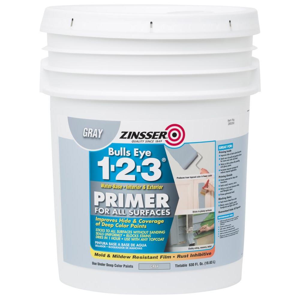 Bulls Eye 1-2-3 630 oz. Gray Water-Based Interior/Exterior Primer and Sealer