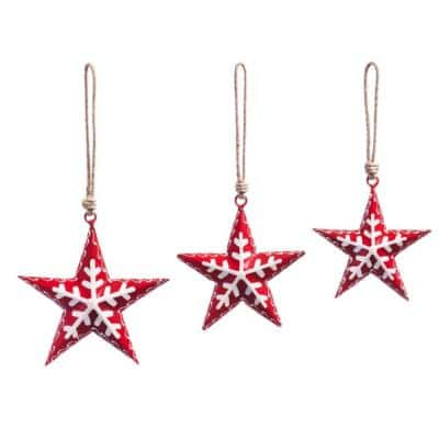 Evergreen 11 In Red Metal Nordic Stars