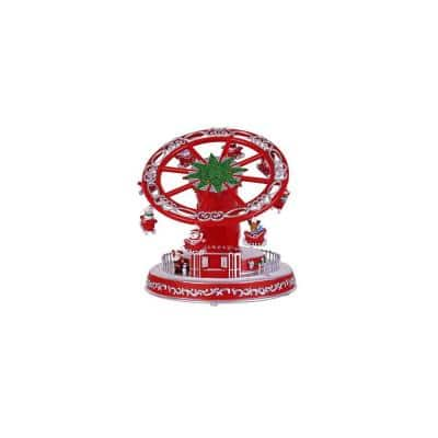6.25 in. Animated Turning and Telescoping Whirl a Wheel with LED Illumination