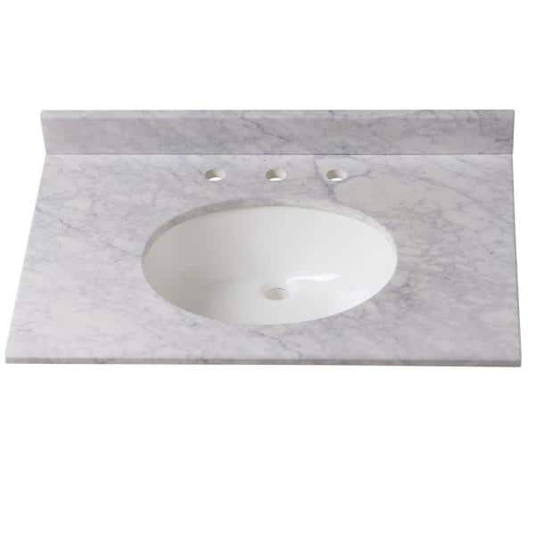 Home Decorators Collection - 31 in. W Stone Effects Vanity Top in Carrera