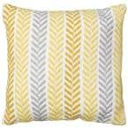 Altair Yellow Geometric Hypoallergenic Polyester 18 in. x 18 in. Throw Pillow