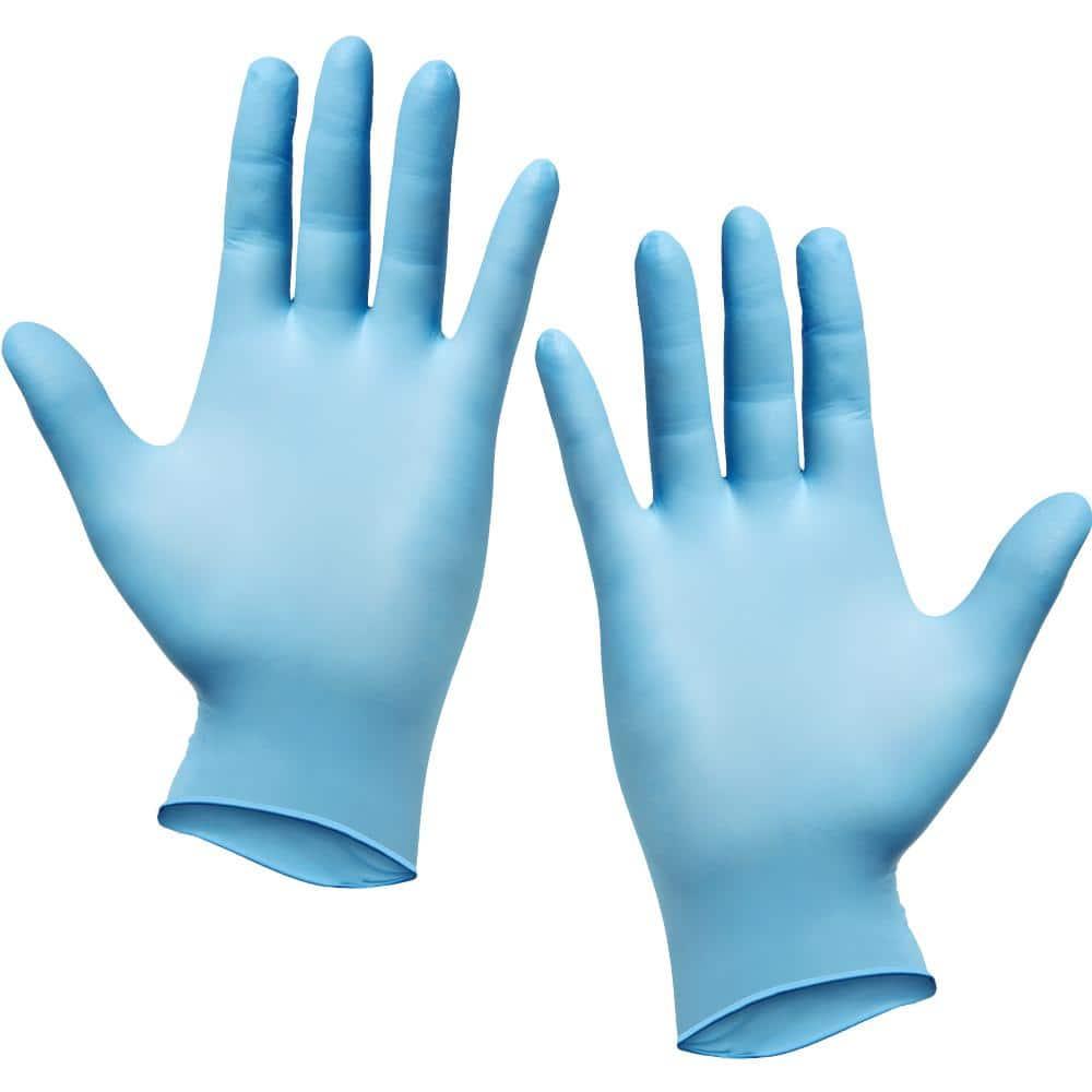 Silverback Large Disposable Nitrile Gloves (Box of 100)-GLV-100PK-L - The  Home Depot