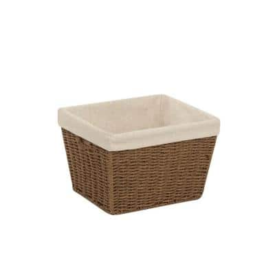 10 in. D x 8 in. H x 12 in. W Brown Paper Cube Storage Bin