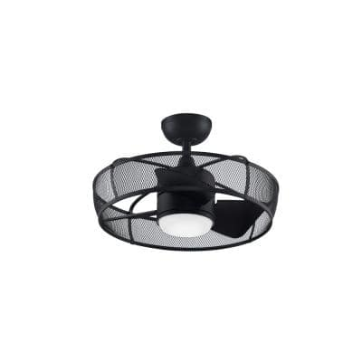 Henry 20 in. Integrated LED Indoor/Outdoor Black Ceiling Fan with Opal Frosted Glass Light Kit and Remote Control