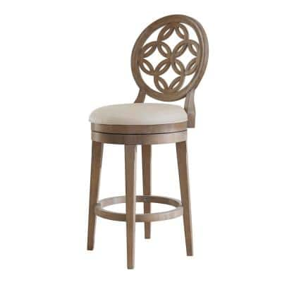 Savona 26 in. Vintage Gray and Oyster Swivel Counter Stool