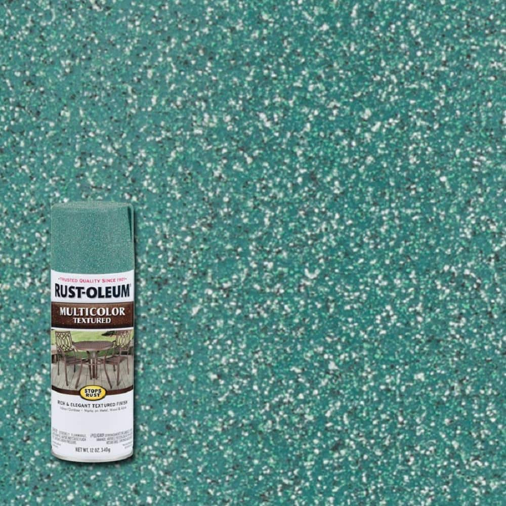 Rust-Oleum Stops Rust 12 oz. MultiColor Textured Sea Green Protective Spray Paint (6-Pack)