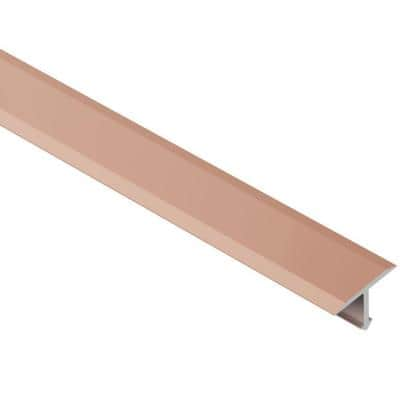 Reno-T Satin Copper Anodized Aluminum 17/32 in. x 8 ft. 2-1/2 in. Metal T-Shaped Tile Edging Trim