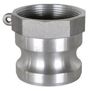 4 in. Part A Aluminum Male Adapter for Lay Flat, Discharge, Backwash and Suction Hoses