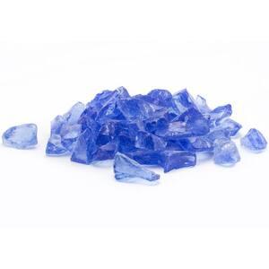 1/2 in. 25 lb. Medium Royal Blue Landscape Fire Glass